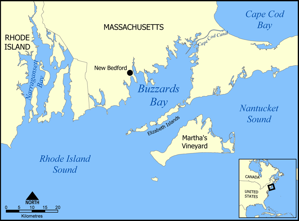 Nantucket Island Nautical Map